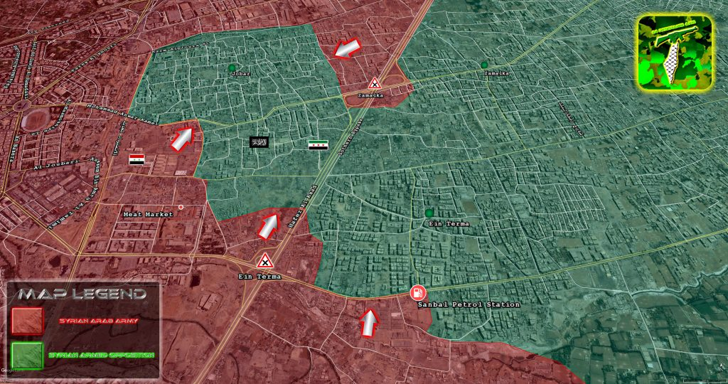 Map Update: Government Forces Advance In Eastern Ghouta
