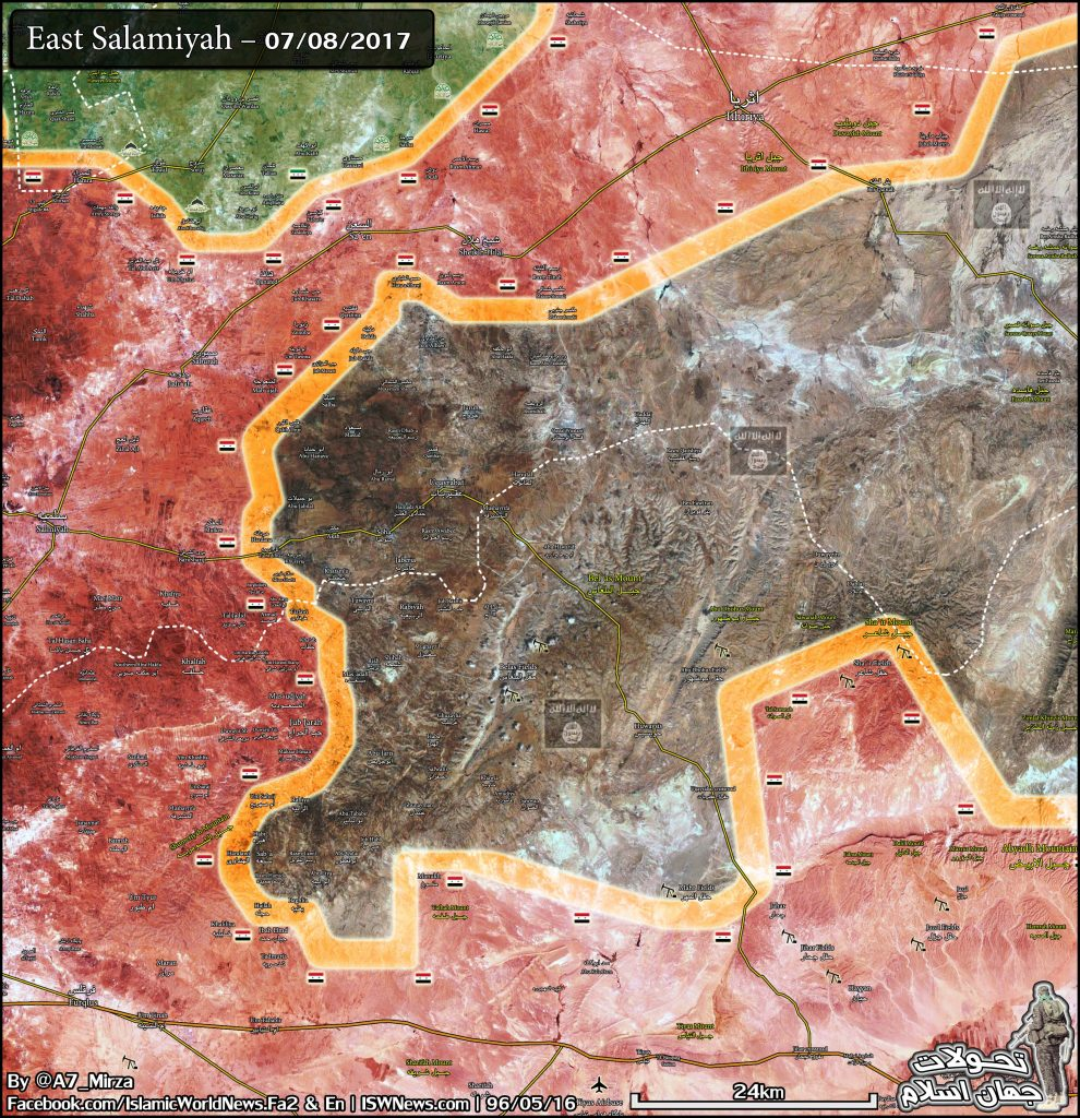 Military Situation In Eastern Salamiyah Countryside - Map Update