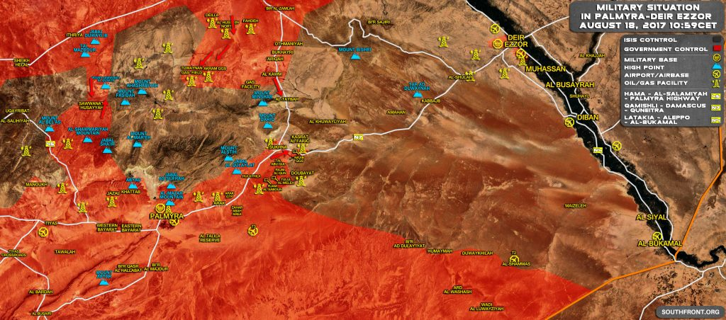 Syrian Army Liberates Gas Field East Of Sukhna, Tightens Siege On Uqayrabat (Maps)
