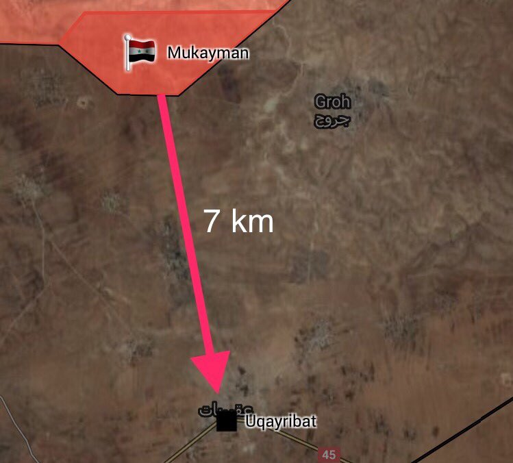 Government Troops Liberated 5 More Villages Near ISIS-held Uqayribat Town