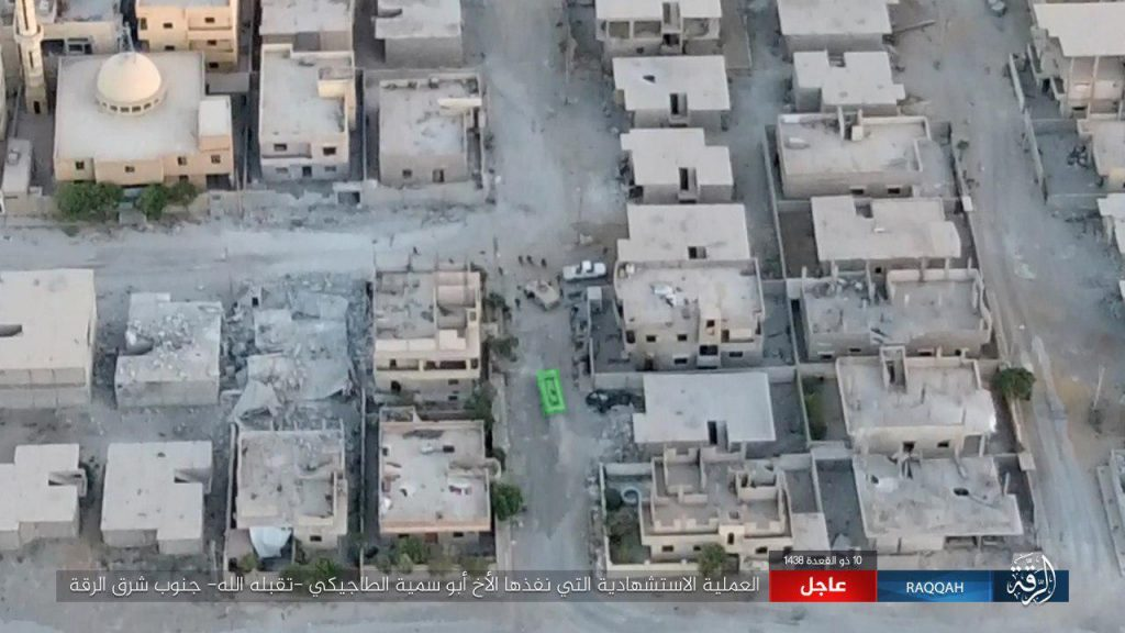 40 SDF Fighters Reportedly Killed In ISIS VBIED Attack In Raqqa City (Map, Photos)