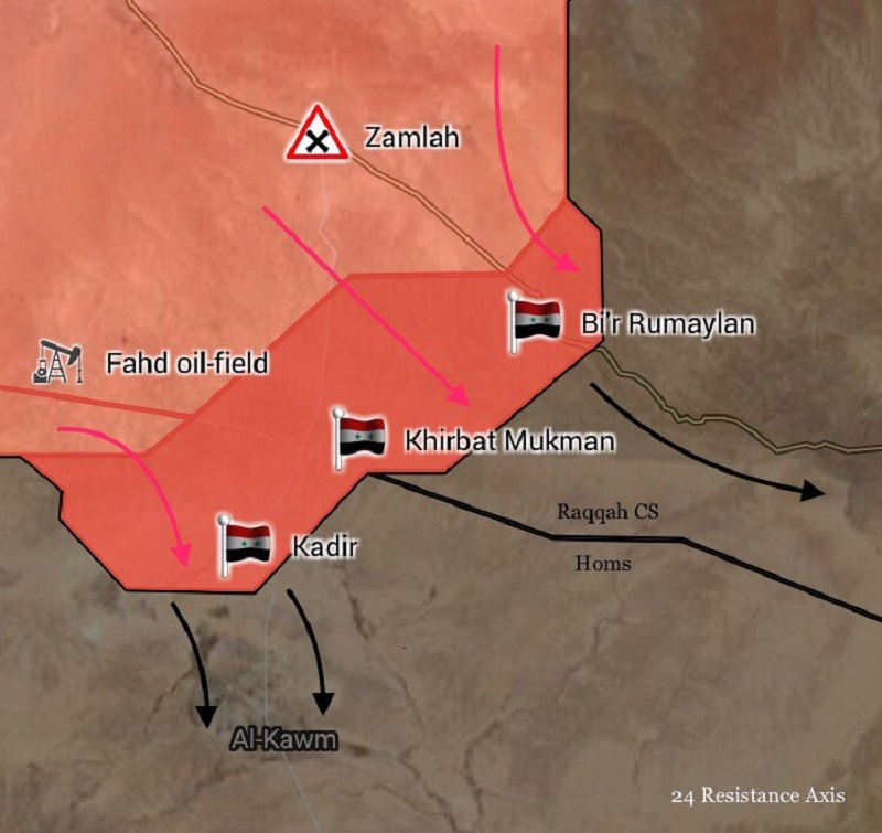 Tiger Forces Liberate 3 Villages At Raqqah-Homs Administrative Border. Syrian Defense Ministry Officially Announces Liberation Of Sukhna (Maps)