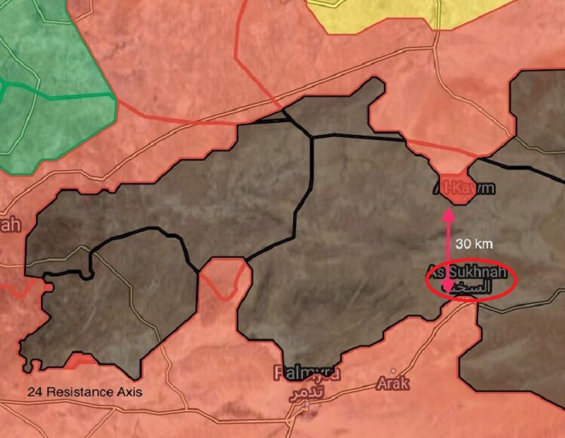 Tiger Forces Liberated Kawm Oasis En Route To Strategic Sukhna Town In Homs Province (Maps)