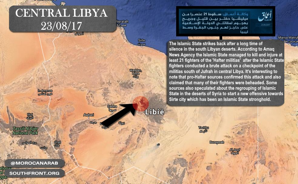 ISIS Resumes Operations In Libya, Kills 21 LNA Fighters - Reports
