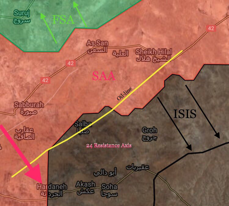 Government Forces Developing Counter-Attack Against ISIS At Salamiyah-Ithriyah Road (Maps)