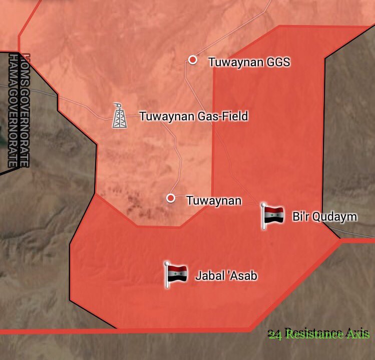 ISIS Retreats From Two More Areas In Eastern Homs (Map)