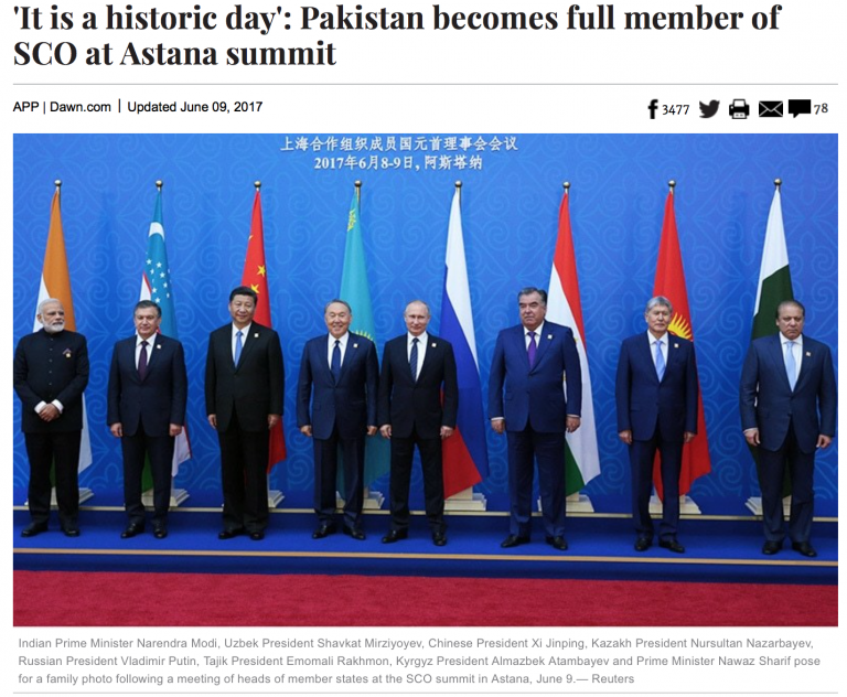 Historic Shift in Geopolitical Alignments: India and Pakistan Join Shanghai Cooperation Organization (SCO)