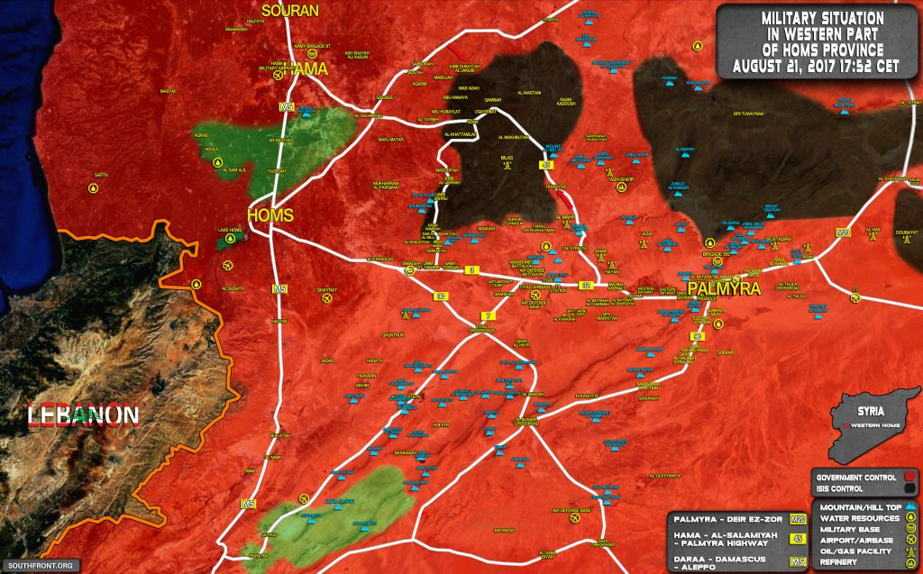 Military Situation In Uqayrabat Pocket Following Liberation Of Huwaysis (Map Update)