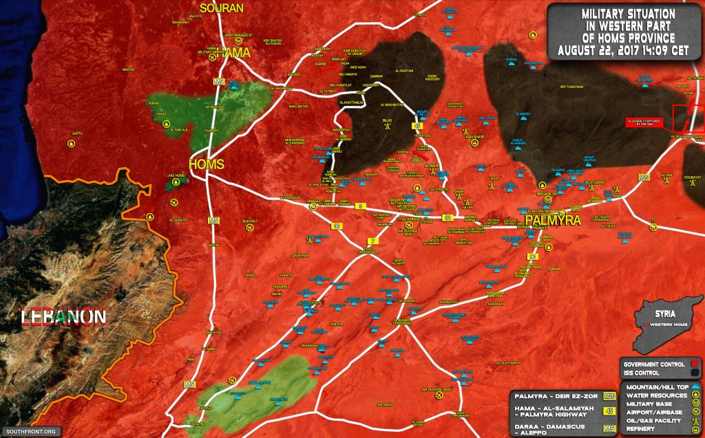 Government Forces Tighten Siege On ISIS-held Area Of Uqayribat (Map)