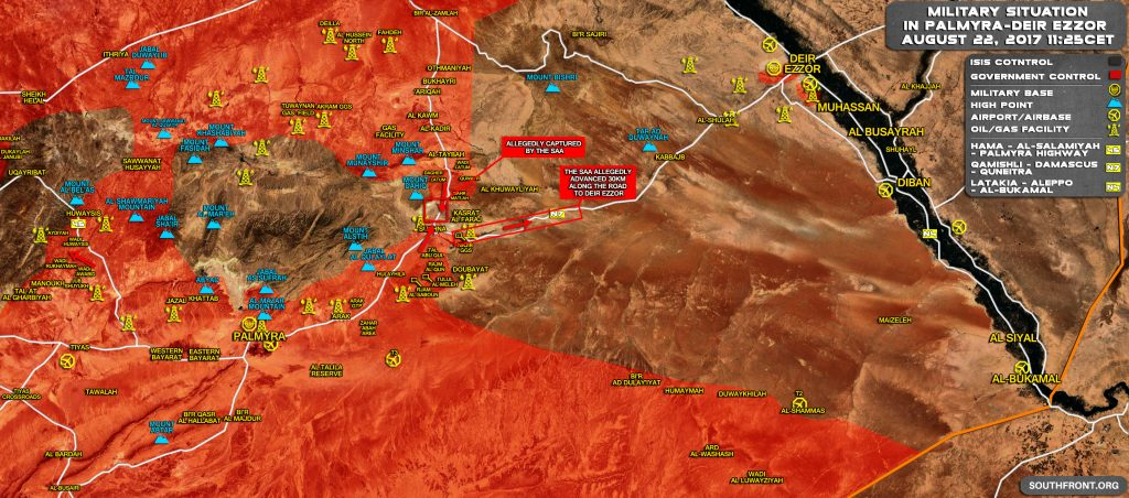 Syrian Army Advances 30km Along Highway To Deir Ezzor - Reports