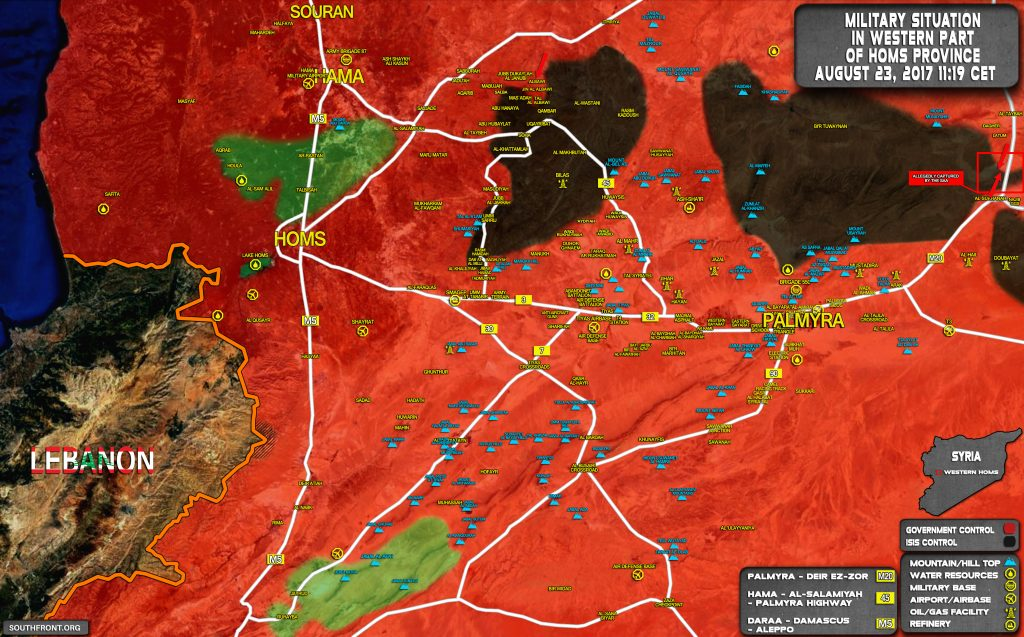 Military Situation In Central Syria On August 23, 2017 (Maps)