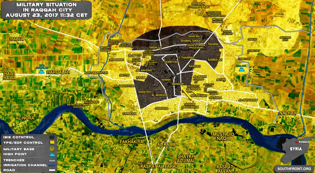 US-backed SDF Captures al-Rasheed Neighborhood In Raqqah City - Reports