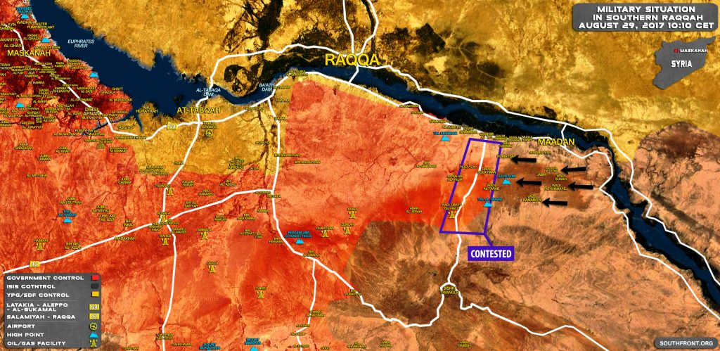 Syrian Army Repelling Large ISIS Attack In Southern Raqqah (Map)