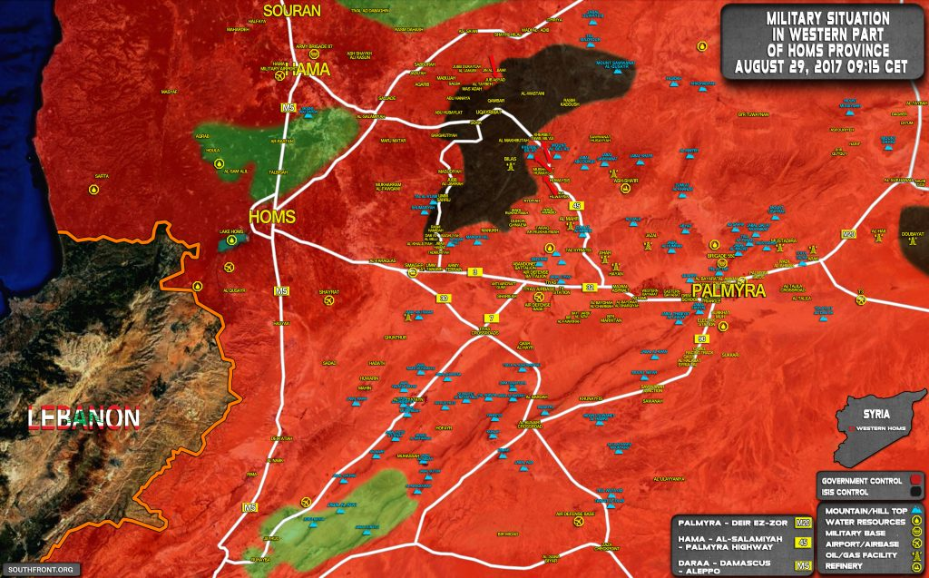 Military Situation In Uqayribat Pocket Area On August 29, 2017 (Map Update)