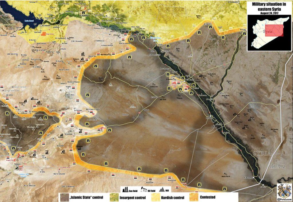 Syrian Army Advances Towards Deir Ezzor, Seeks To Encircle Al Khuwayliyah (Map)