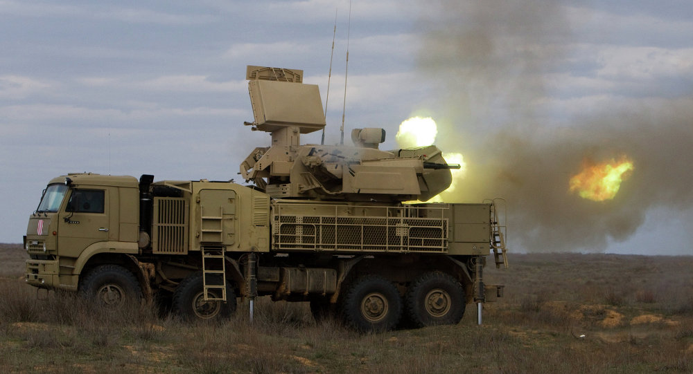 Russian Pantsir-S Goes Hunting In Syrian Skies