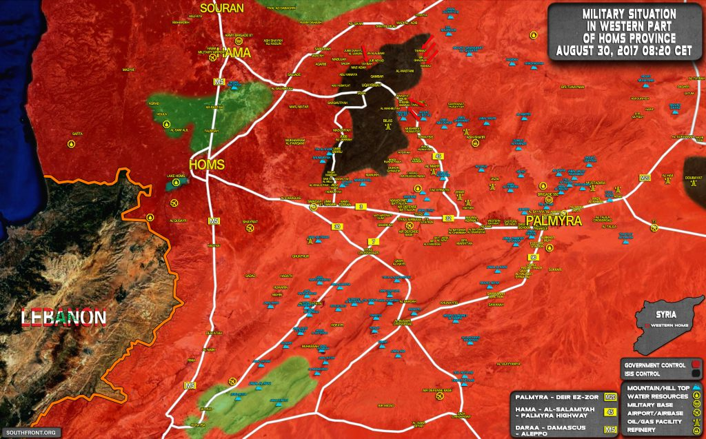 Military Situation In Uqayribat Pocket On August 30, 2017 (Map Update)