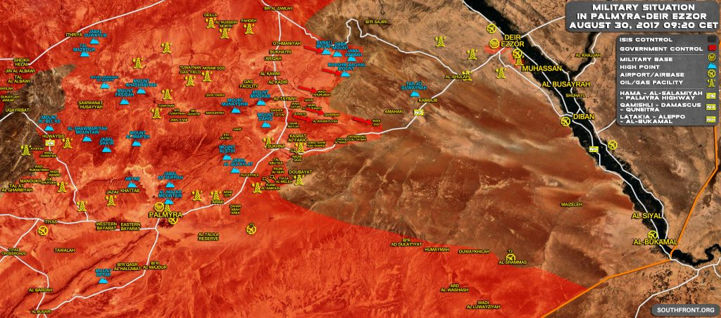 Russian And Syrian Warplanes Pound ISIS Targets In Homs And Deir Ezzor Provinces Ahead Of Government Offensive On Deir Ezzor City