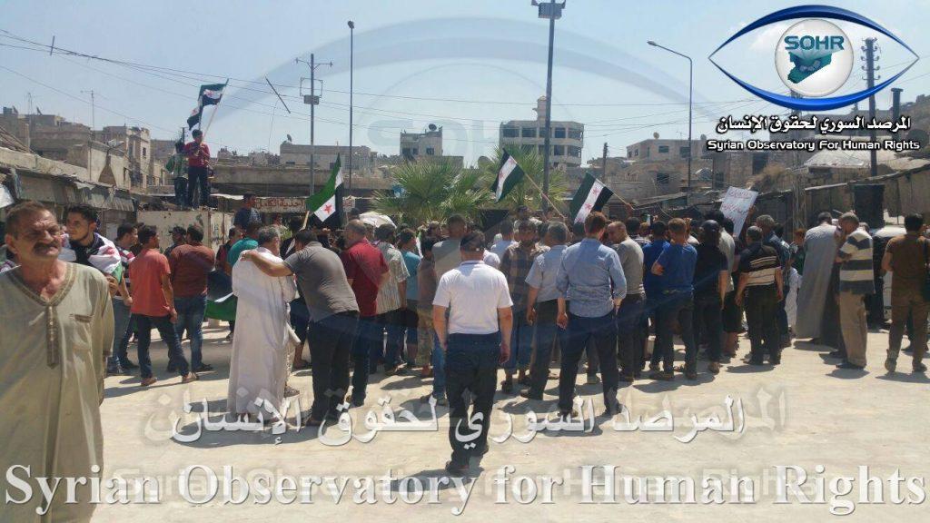 Demonstrations Against Hay'at Tahrir al-Sham in Idlib Province