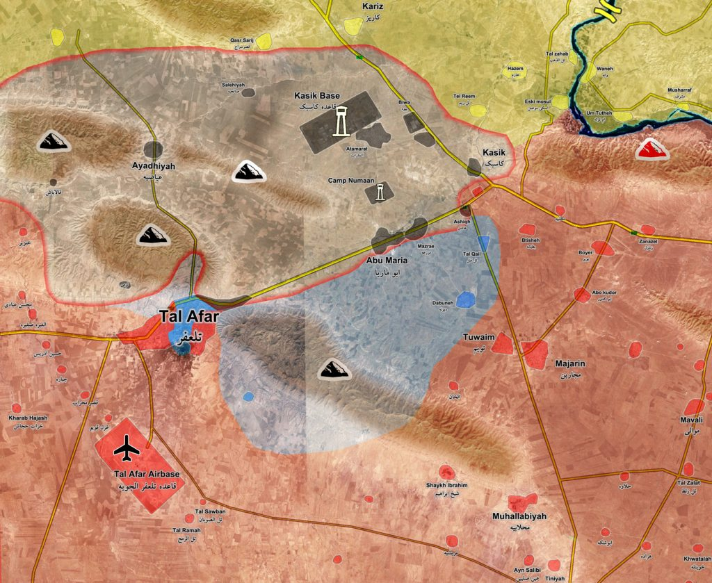 Military Situation In Tal Afar Area In Northern Iraq On August 26, 2017 (Map Update)