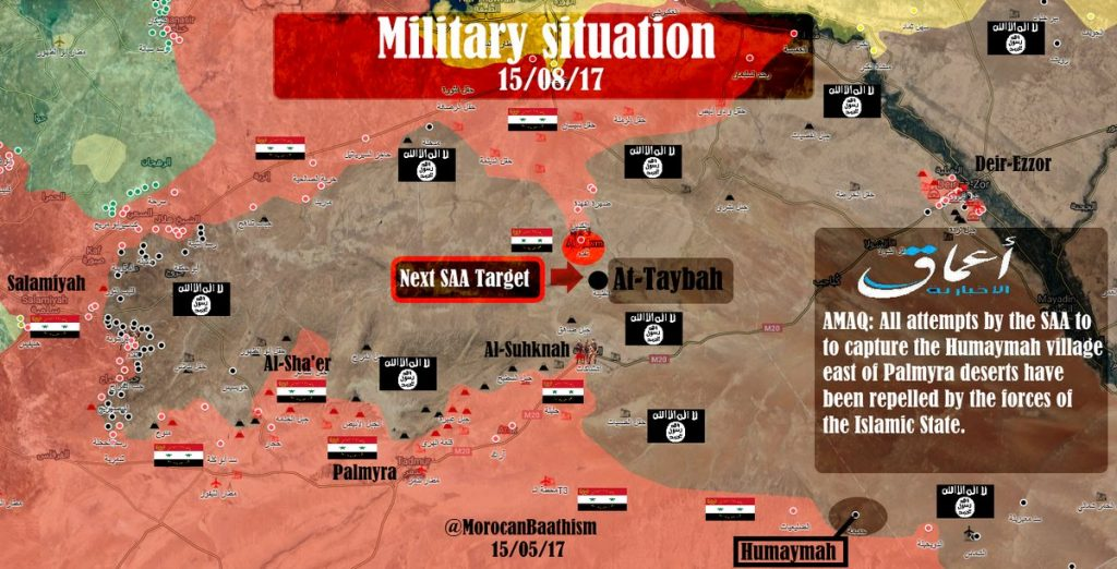 ISIS Takes Defense Posture In Central Syria. Government Forces Prepare To Deliver Devastating Blow To Terrorists