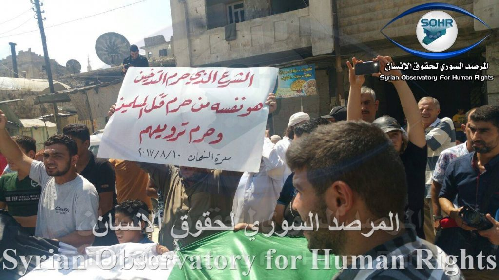 Demonstrations Against Hay'at Tahrir al-Sham in Idlib Province