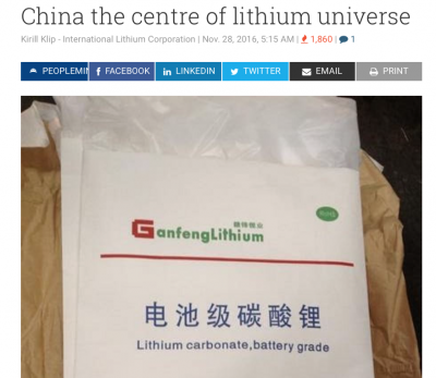 More American Troops to Afghanistan, To Keep the Chinese Out? Lithium and the Battle for Afghanistan's Mineral Riches