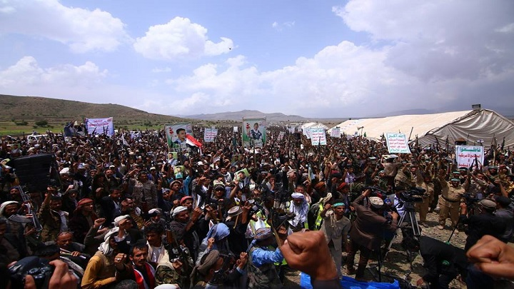 Thousands Houthi-Saleh Alliance Supporters Gather In Sanaa Supporting Fight With Saudi-led Coalition
