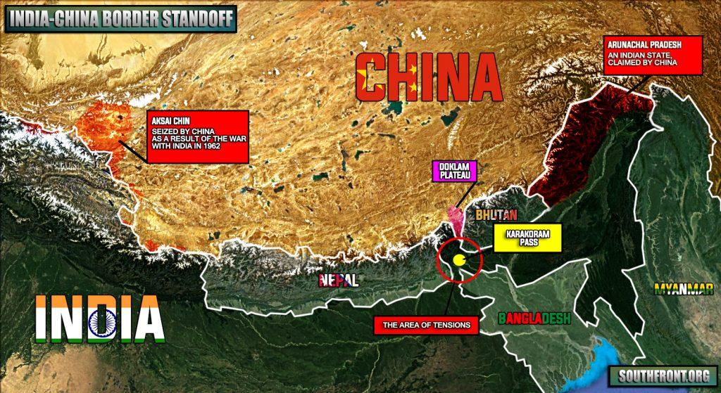 Maps: Situation In Doklam Plateau, China-India Border Standoff