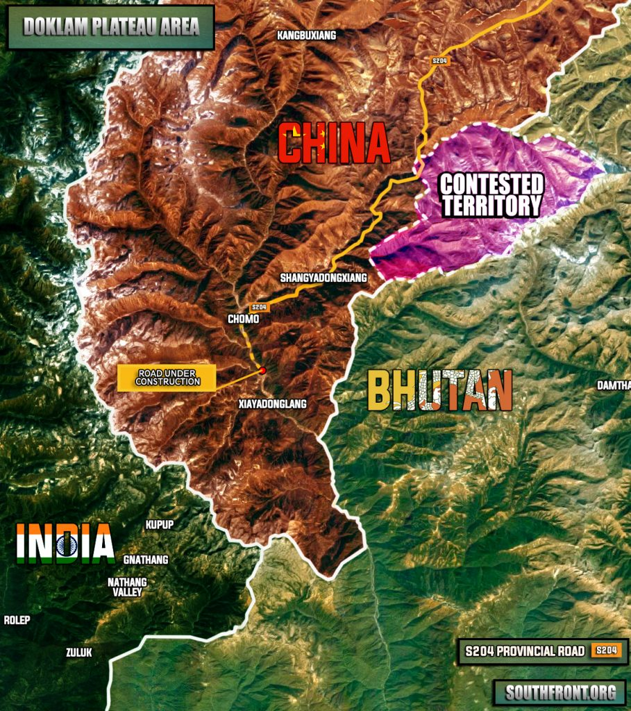 Maps: Situation In Doklam Plateau, China-India Border Standoff