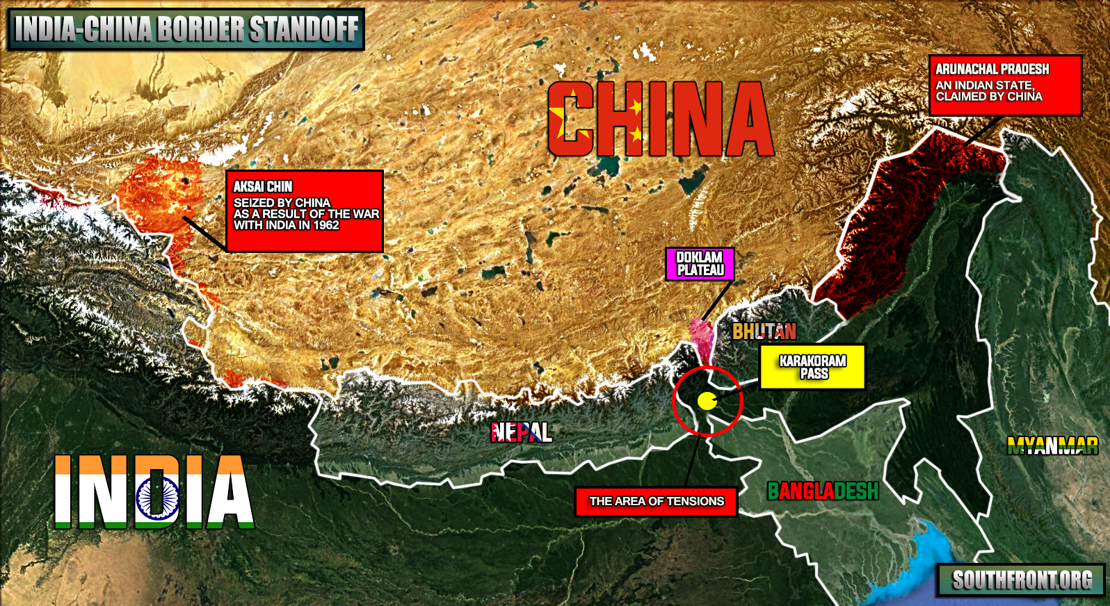 Doklam plateau india china border standoff map gumiabroncs Choice Image