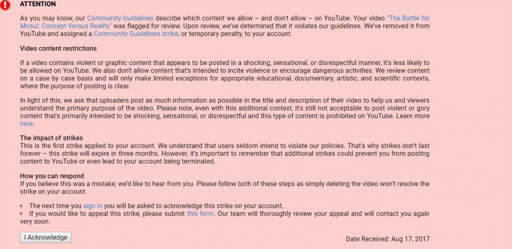 Censorship On Youtube: SouthFront Channel Is Again Under Attack (UPDATED)
