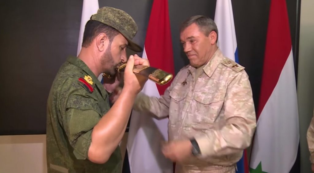 Suheil 'The Tiger' al-Hassan Receives Award Weapon From Russian Head of General Staff (Video)
