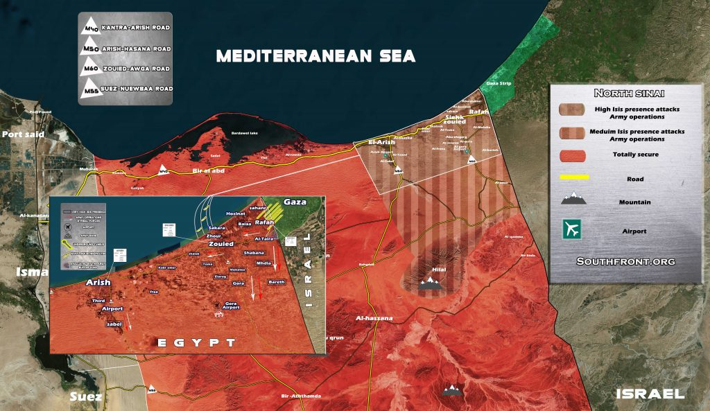 Maps: Security Situation In Northern Sinai, Egypt