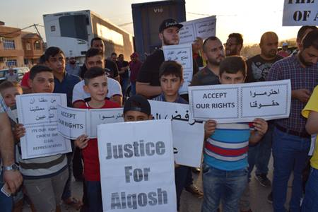 Locals Demonstrate Against Kurdistan Regional Government In Alqosh Town (Video, Photos)