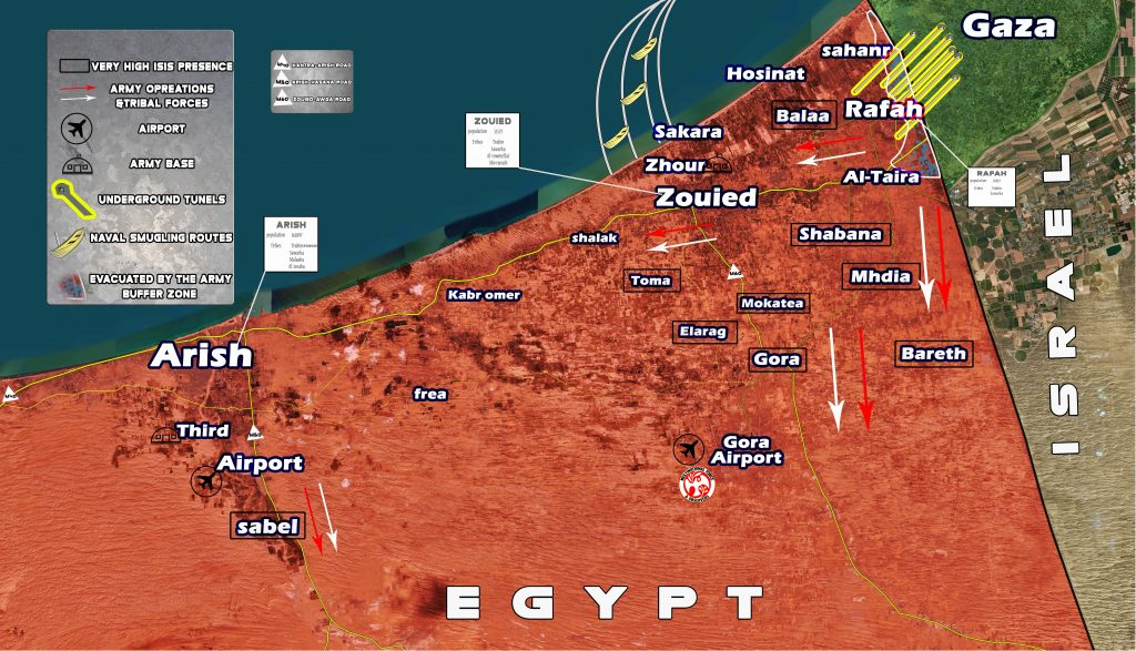 Map Update Security Situation In Northern Sinai Egypt