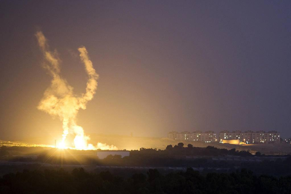 Israeli Air Force Conducted Air Raid On Gaza Strip