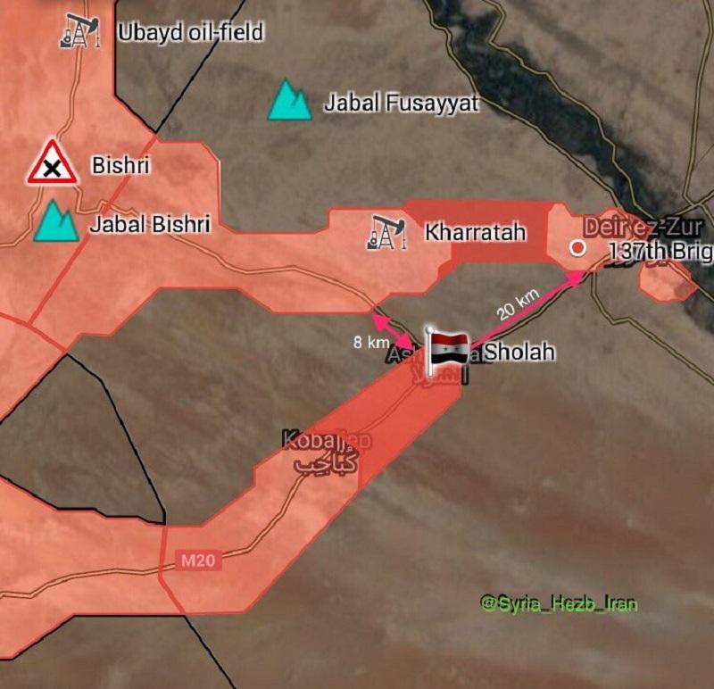 Syrian Army Retakes Important Village On Sukhna-Deir Ezzor Highway (Map)