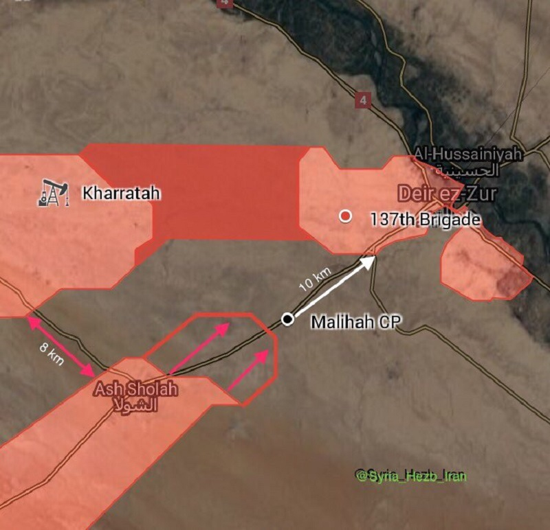 SAA Advances In Cemetery Area In Deir Ezzor City, Pushes Along Sukhna-Deir Ezzor Highway (Map)