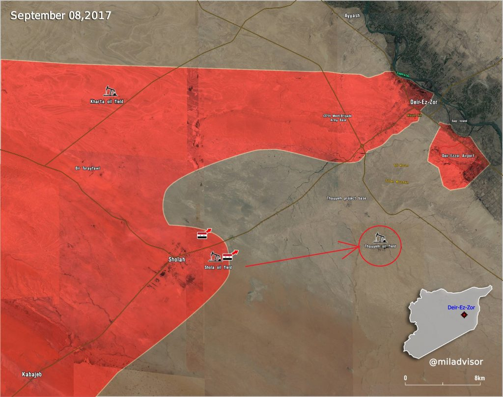 Overview Of Battle For Deir Ezzor City On September 8-9, 2017 (Map)