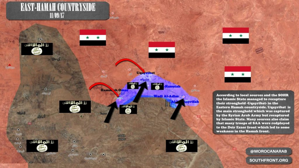 Large ISIS Counter-Attack In Eastern Hama, Syrian Army Retreats From Uqayribat - Reports