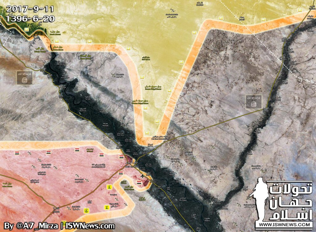 ISIS Launches Counter-Attack In Attempt To Push US-backed Forces From Deir Ezzor City (Map)