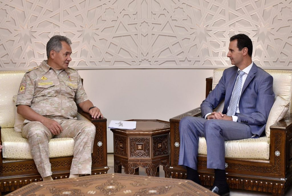Russian Defense Minister Visits Damascus For Meeting With President Assad
