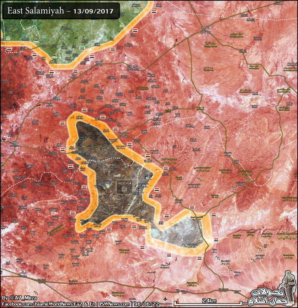 Military Situation In Eastern Hama On September 13, 2017