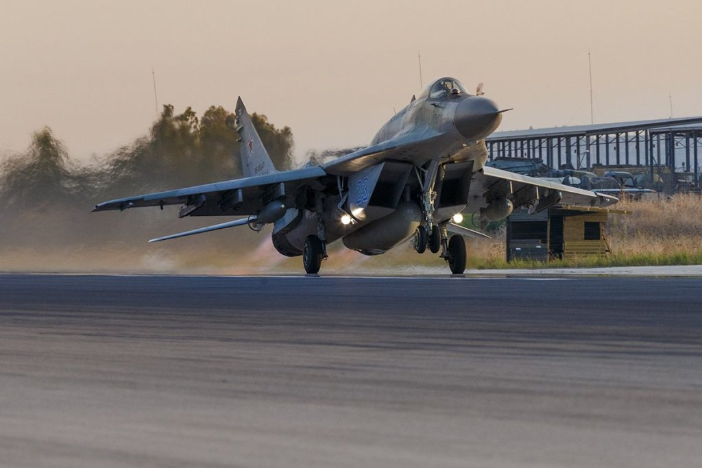 Russia Deploys MiG-29SMT Fulcrum Multirole Fighter Aircraft For Combat Operations In Syria (Photo)
