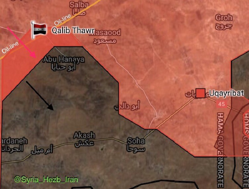 Government Troops Liberate Important Village, Secure Oil Pipeline In Eastern Salamiyah (Maps)