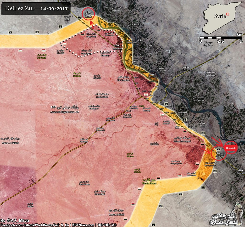 Overview Of Battle For Deir Ezzor On September 16, 2017 (Maps)