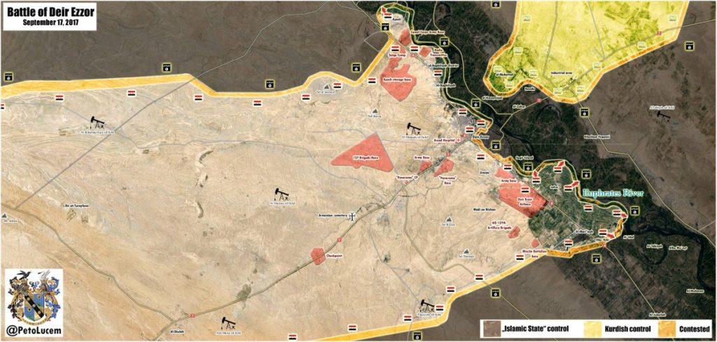 Overview Of Battle For Deir Ezzor On September 17, 2017 (Maps, Analysis)
