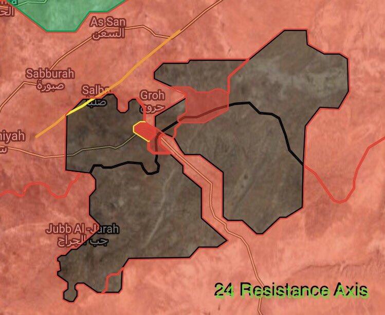 陸軍はUqayribatに大きなISISカウンター攻撃をはじく、タウン(マップ)保護します