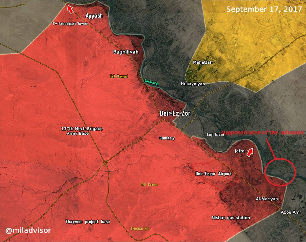 Syrian Government Forces Crossed Euphrates East Of Deir Ezzor - Russian Media